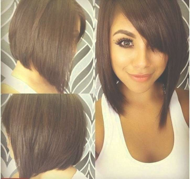 Medium Haircuts For Round Faces | Hairjos Inside Current Medium Haircuts With Bangs For Round Faces (View 23 of 25)