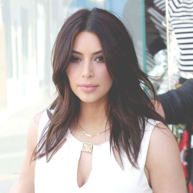 Medium Haircuts Kim Kardashian Intended For Current Kim Kardashian Medium Hairstyles (View 9 of 25)