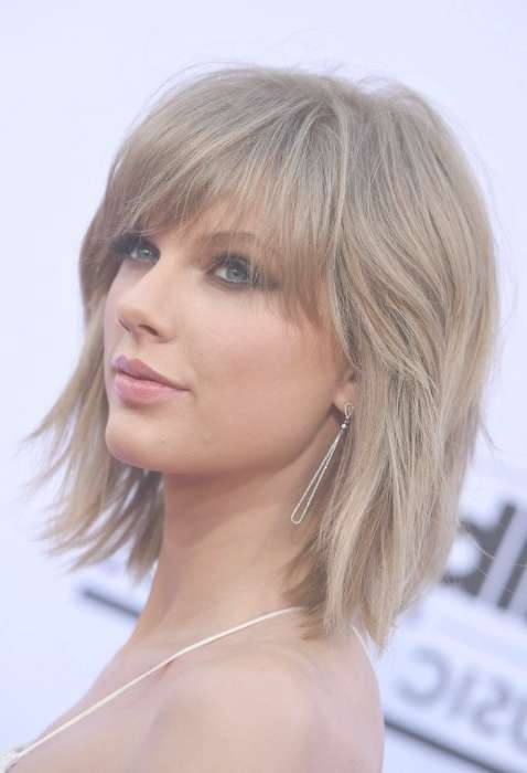 Medium Haircuts Straight Thick Hair In Recent Medium Haircuts For Thick Hair With Bangs (View 9 of 25)