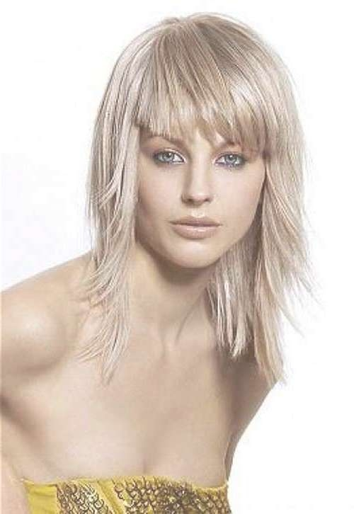 Medium Haircuts With Bangs 2014 – 2015 | Hairstyles & Haircuts In Current Best Medium Hairstyles With Bangs (View 21 of 25)