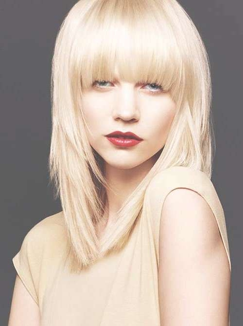 Medium Haircuts With Bangs 2014 – 2015 | Hairstyles & Haircuts Pertaining To Most Popular Medium Haircuts Styles With Bangs (View 18 of 25)