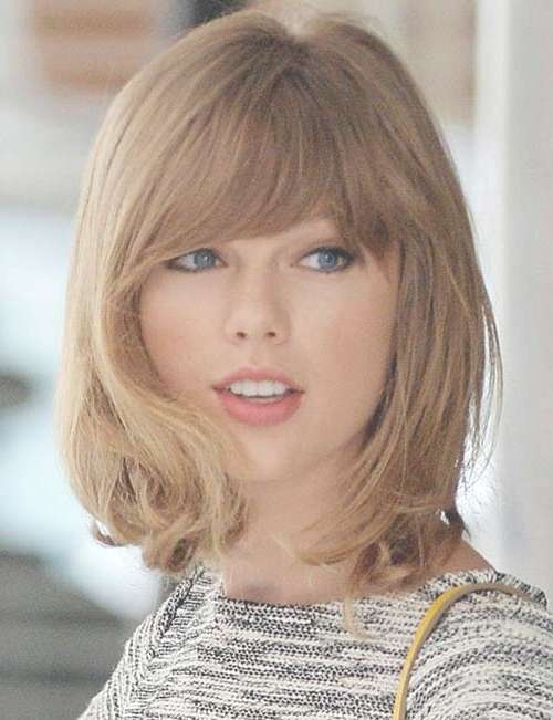 Medium Haircuts With Bangs 2014 – 2015 | Hairstyles & Haircuts Regarding Most Current Taylor Swift Medium Hairstyles (View 9 of 25)
