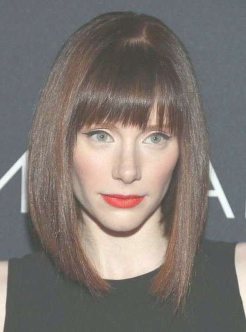 Medium Haircuts With Bangs 2014 – 2015 | Hairstyles & Haircuts Regarding Newest Medium Hairstyles With Straight Bangs (View 11 of 25)