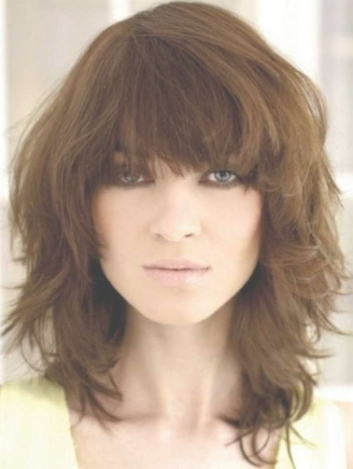 Medium Haircuts With Bangs 2018 For Latest Ladies Medium Hairstyles With Fringe (View 4 of 15)
