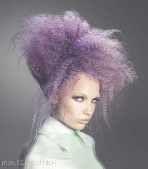 Medium Hairstyle Within Most Popular Purple Medium Hairstyles (View 17 of 25)