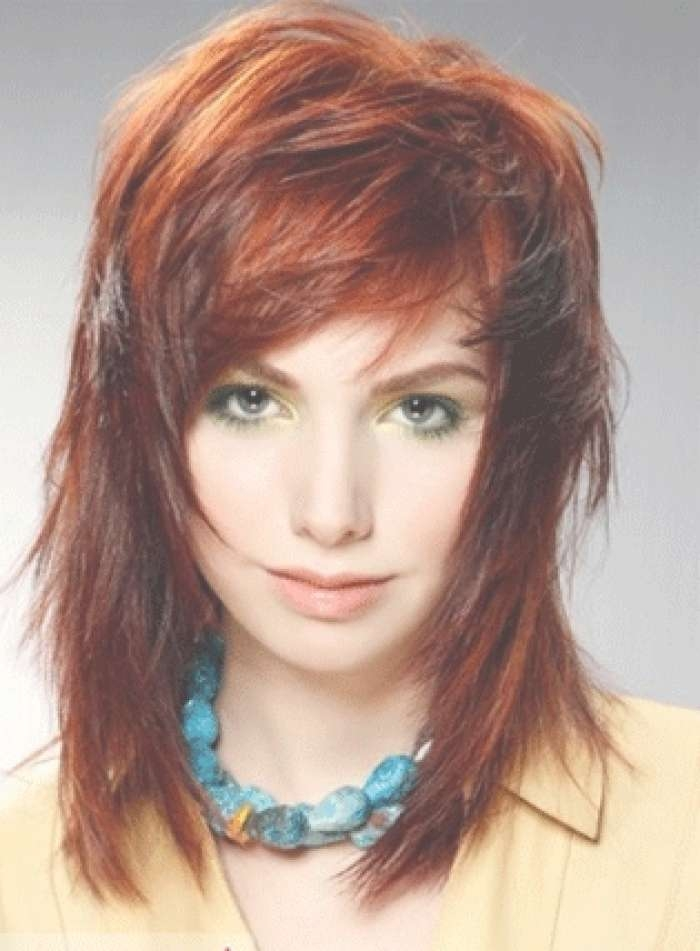 Medium Hairstyles: Cute Medium Length Hairstyle Red, Celebrity Pertaining To Most Current Medium Hairstyles For Red Hair (View 15 of 25)
