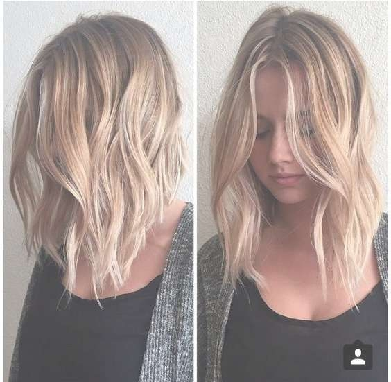 Medium Hairstyles For Thin Hair… | Live Hairs | Livehairs Inside Most Up To Date Medium Haircuts For Blondes With Thin Hair (View 3 of 15)