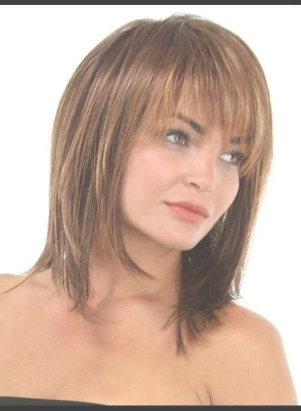 Medium Hairstyles For Women Over 40 With Bangs – Youtube Within Newest Medium Hairstyles For Women With Bangs (View 16 of 25)