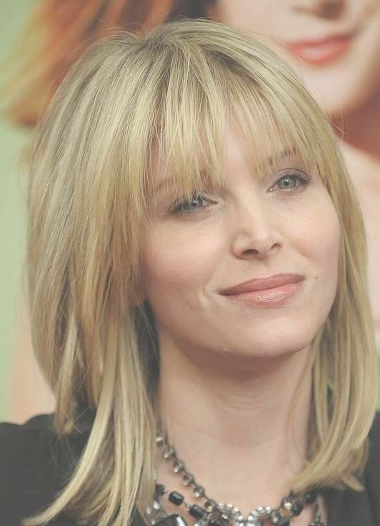 Medium Hairstyles With Bangs For Straight Hair 2014 – Popular Haircuts Pertaining To 2018 Best Medium Hairstyles With Bangs (View 8 of 25)