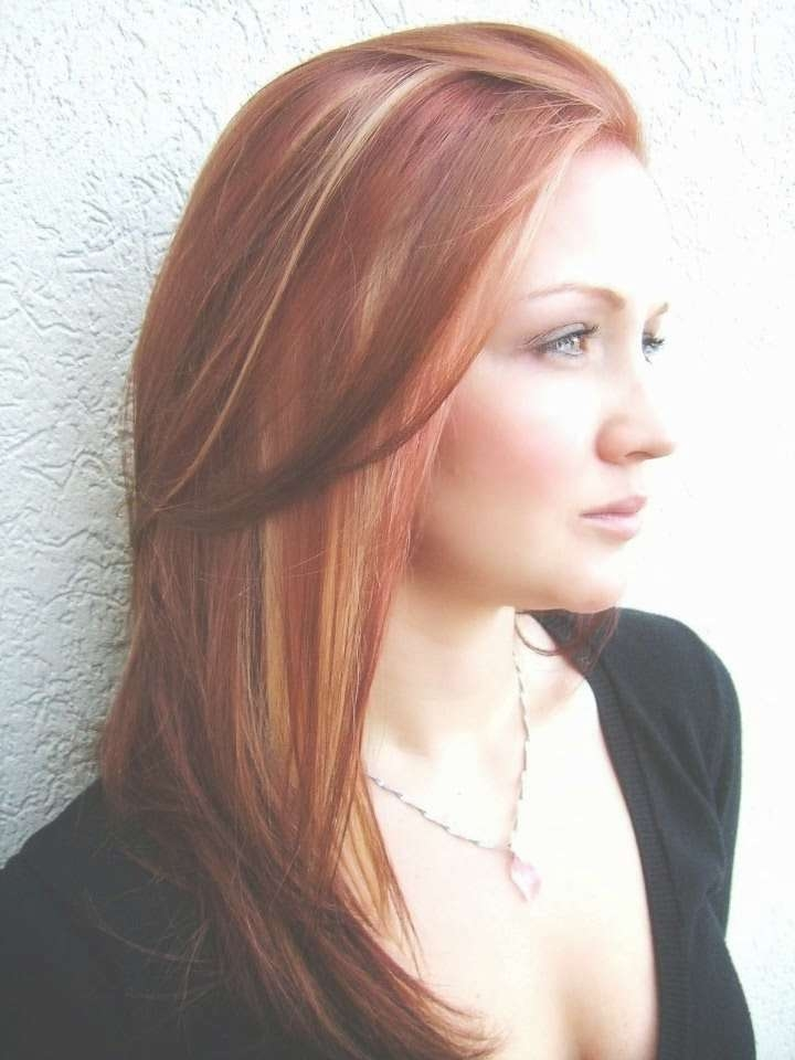 Medium Hairstyles With Bold Highlights And Low Lights | Medium Red Throughout Most Recent Medium Haircuts With Red And Blonde Highlights (View 21 of 25)