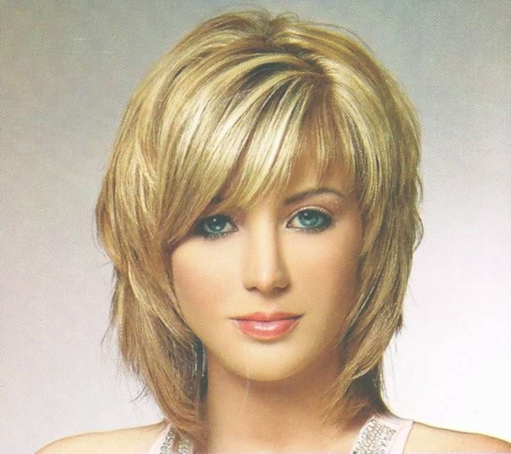 Medium Hairstyles With Side Bangs The Medium Shag Hairstyles For With Regard To Newest Medium Haircuts With Full Bangs (View 21 of 25)
