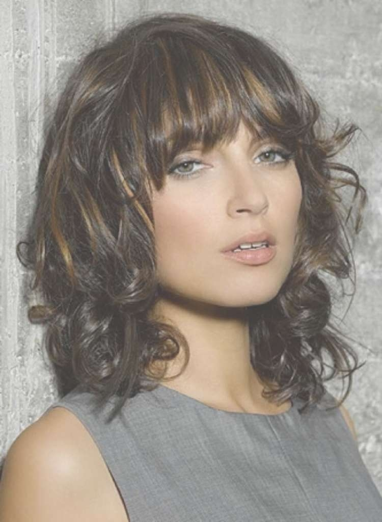 Medium Layered Haircuts You'll Absolutely Love To Try – Part 2 Regarding 2018 Curly Medium Hairstyles With Bangs (View 8 of 25)