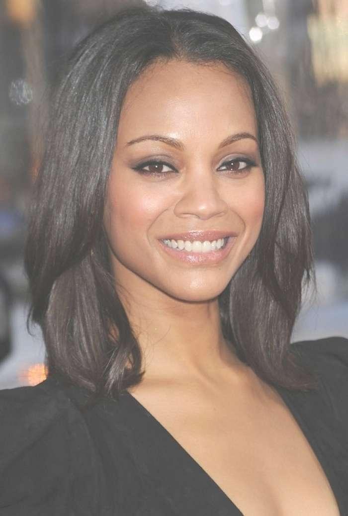 Medium Length Black Hairstyles 2017 Inside Current African American Ladies Medium Haircuts (View 2 of 15)