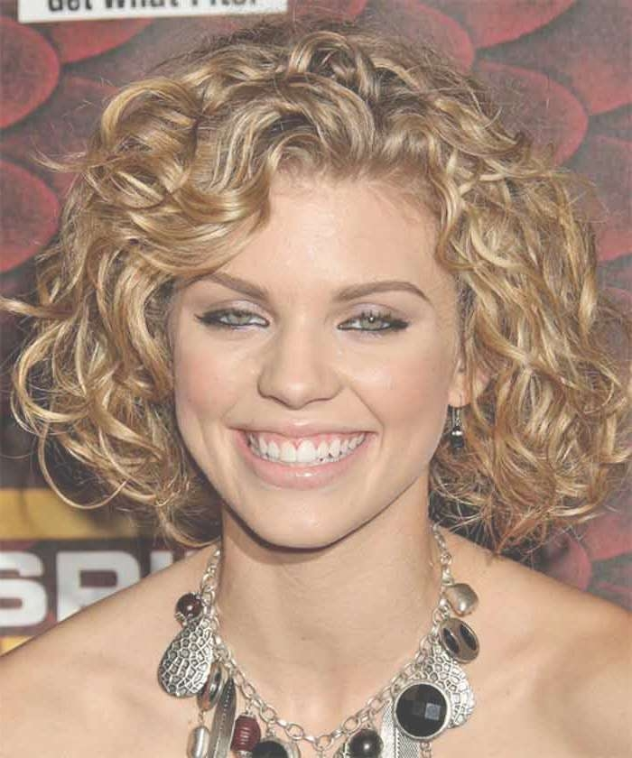 Medium Length Curly Hairstyles For Round Faces Intended For Best And Newest Medium Haircuts For Round Faces With Curly Hair (View 5 of 25)