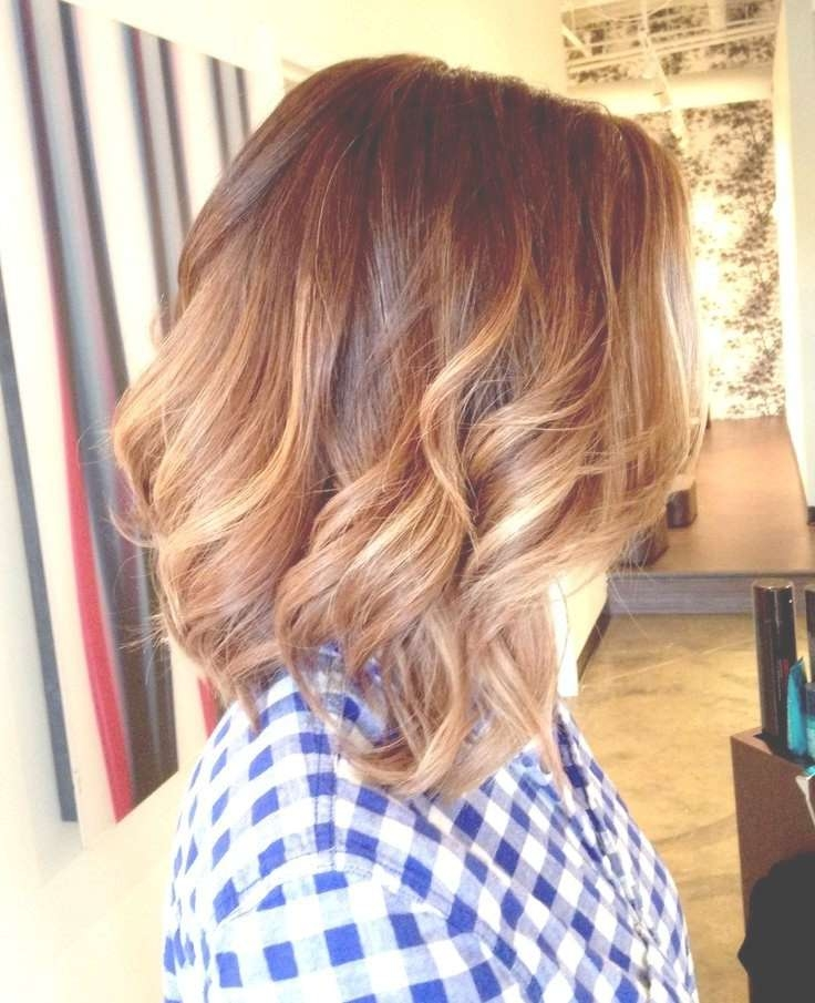 Medium Length Curly Ombre Hair With Current Ombre Medium Hairstyles (View 13 of 25)
