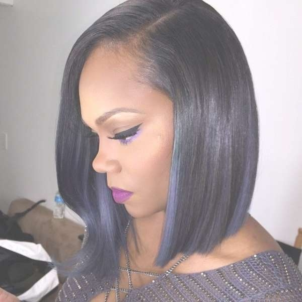 Medium Length Hair Bob Haircut Black Woman Within Black Bob Haircuts (View 15 of 25)