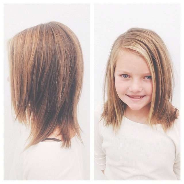 Medium Length Hair Cut For Little Girl | Kids And Things Intended For Most Current Kids Medium Haircuts With Bangs (View 3 of 25)