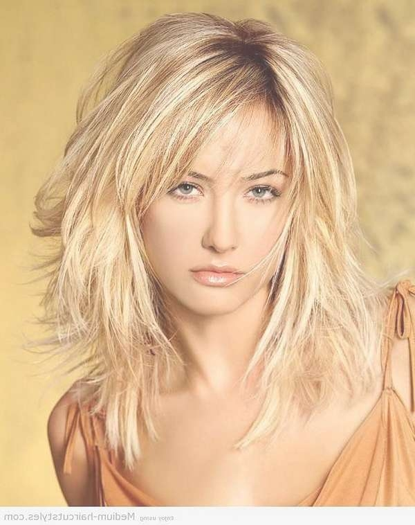 Medium Length Hair Cuts For Fine Thin Hair Inside Most Up To Date Choppy Medium Haircuts For Fine Hair (View 21 of 25)