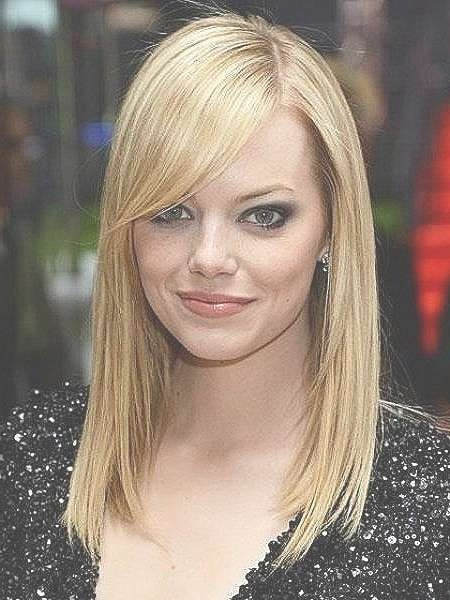 Medium Length Hair : Medium Hairstyles With Side Fringe New Medium With Most Current Medium Hairstyles With Side Bangs And Layers (View 11 of 25)