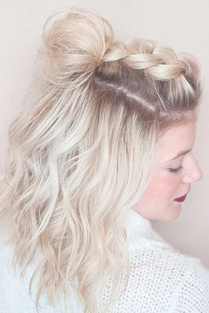 Medium Length Hair Short Prom Hairstyles Pertaining To Latest Medium Hairstyles For Homecoming (View 7 of 25)