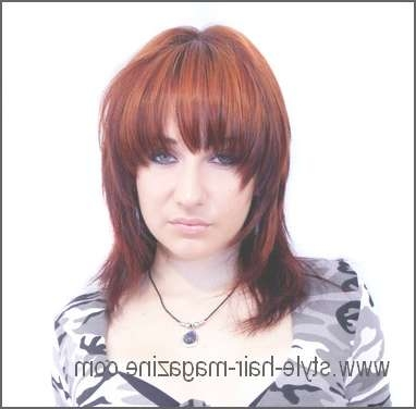 Medium Length Hair Style Gallery Within Most Current Medium Haircuts With Red Color (View 5 of 25)