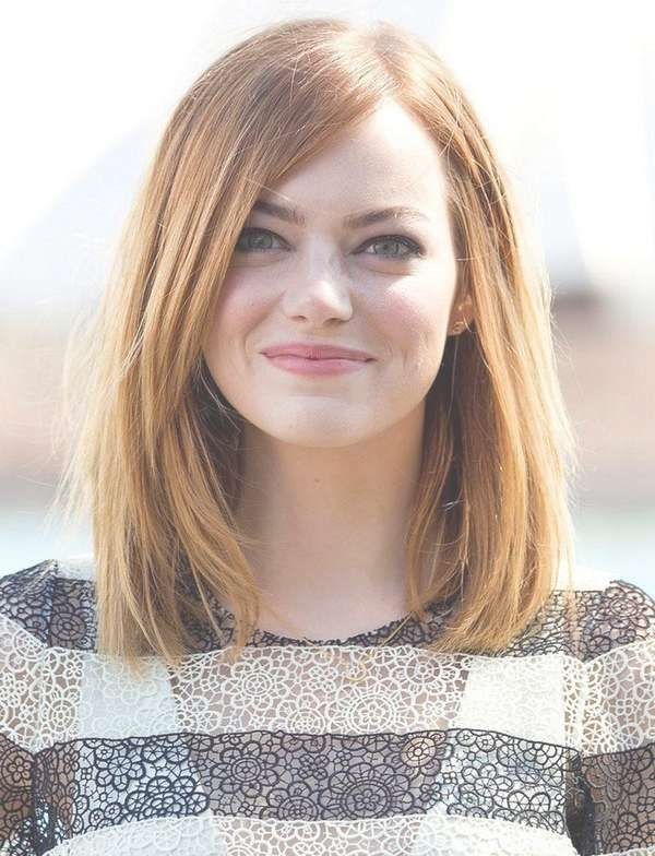 Medium Length Haircut For Round Face Straight Hair With Regard To Best And Newest Medium Haircuts For Round Faces Women (View 8 of 25)