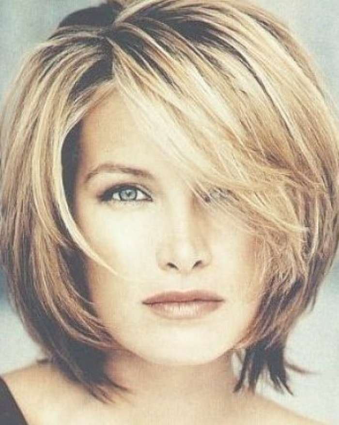 Photo Gallery Of Medium Hairstyles For Long Faces And Fine Hair