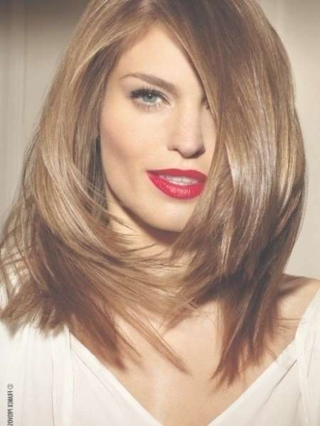 Medium Length Haircuts For Thick Hair Long Hairstyles For Oval In Most Popular Medium Haircuts For Oval Faces (View 11 of 25)