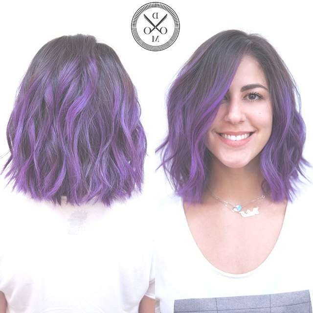 Medium Length Haircuts For Thick Hair Pertaining To Current Purple Medium Hairstyles (View 18 of 25)