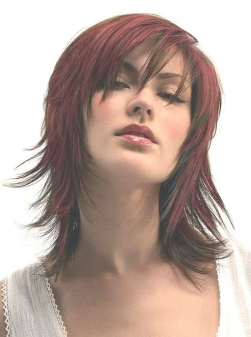 Medium Length Haircuts For Thick Hair: Red Hair Styles – Popular Inside 2018 Medium Hairstyles And Colors (View 15 of 25)