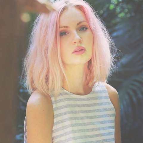 Medium Length Haircuts For Thick Hair With Regard To 2018 Pink Medium Haircuts (View 16 of 25)