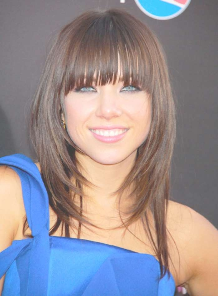 Medium Length Haircuts With Bangs 2015 Hairstyles Portal Inside Most Recent Medium Haircuts With Fringes (View 17 of 25)