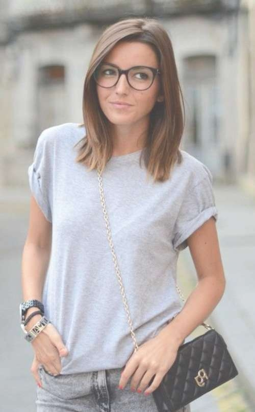 Medium Length Haircuts With Glasses Intended For Most Recently Medium Hairstyles For Ladies With Glasses (View 11 of 15)