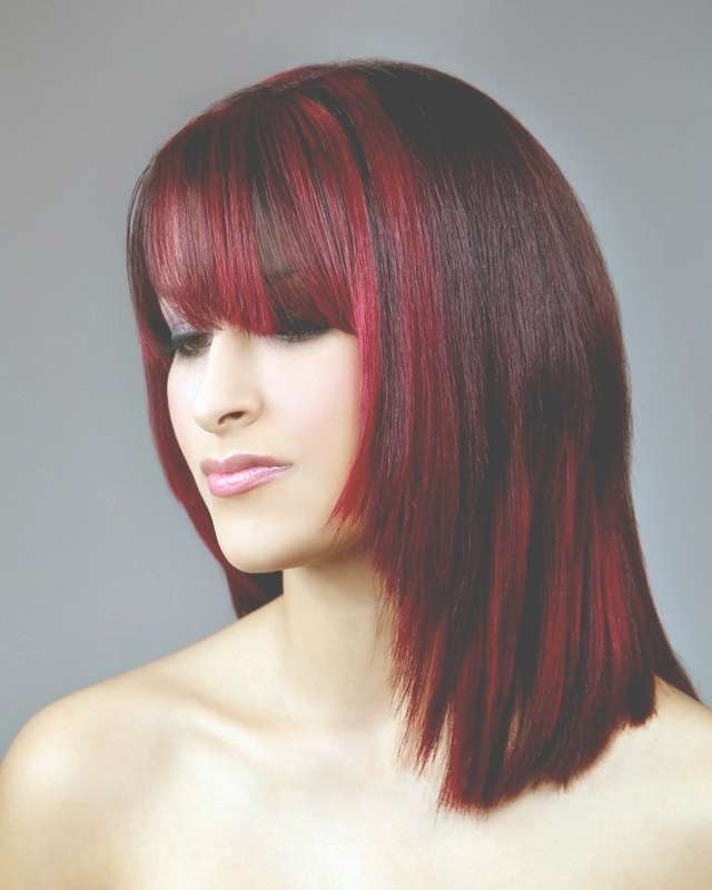 Medium Length Haircuts With Red Highlights With Regard To Most Recently Medium Haircuts With Red Color (View 4 of 25)
