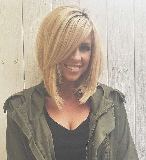 Medium Length Haircuts With Side Swept Bangs Regarding Most Recently Side Swept Bangs Medium Hairstyles (View 15 of 25)