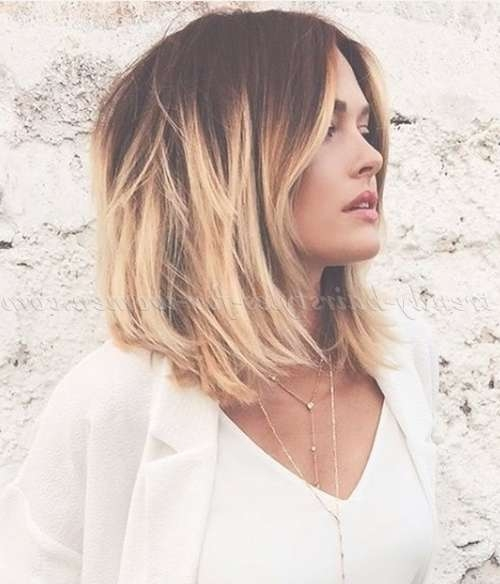 Medium Length Hairstyles For Straight Hair – Medium Length Ombre Pertaining To Most Recently Ombre Medium Hairstyles (View 4 of 25)
