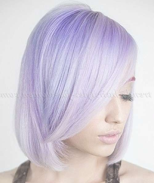 Medium Length Hairstyles For Straight Hair – Shoulder Length Bob With Regard To Most Current Purple Medium Hairstyles (View 17 of 25)
