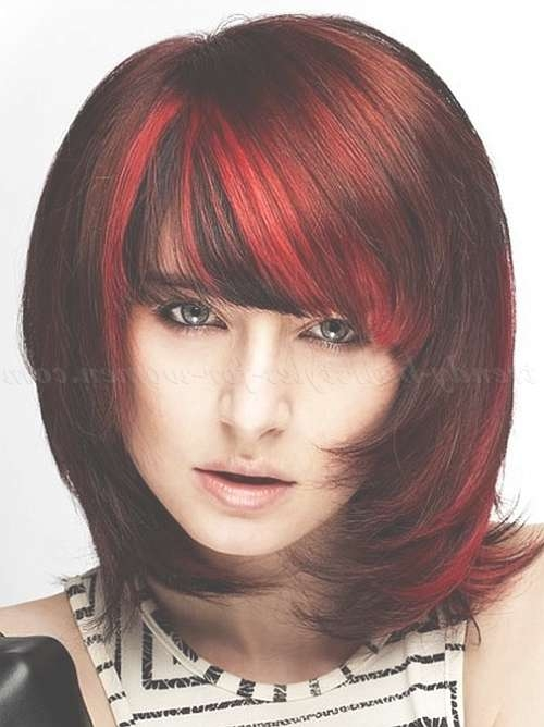 Medium Length Hairstyles For Straight Hair – Shoulder Length Intended For Newest Medium Hairstyles For Red Hair (View 20 of 25)