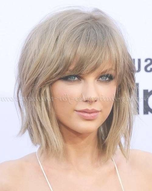 Medium Length Hairstyles For Straight Hair – Taylor Swift Shaggy In Most Up To Date Shaggy Medium Hairstyles (View 23 of 25)