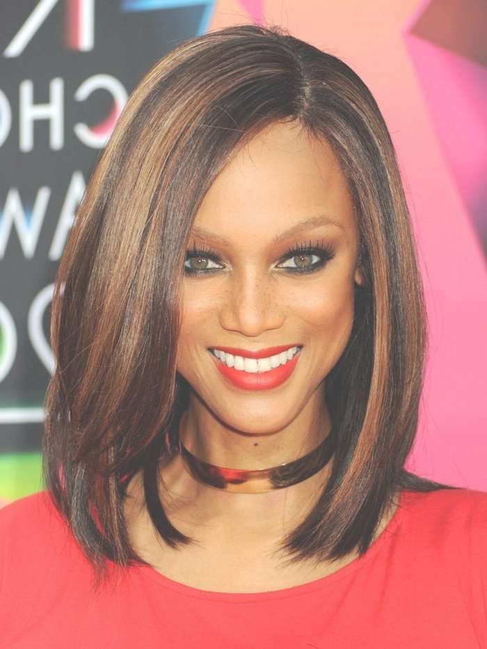 Medium Length Hairstyles For Thick African American Hair Pertaining To Most Current Medium Hairstyles For African American Women With Thin Hair (View 5 of 15)