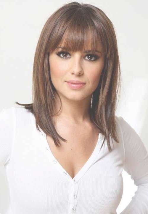 Medium Length Hairstyles For Women Over 40 | Medium Hairstyles With Regard To Most Recent Very Medium Haircuts With Long Bangs (View 12 of 15)