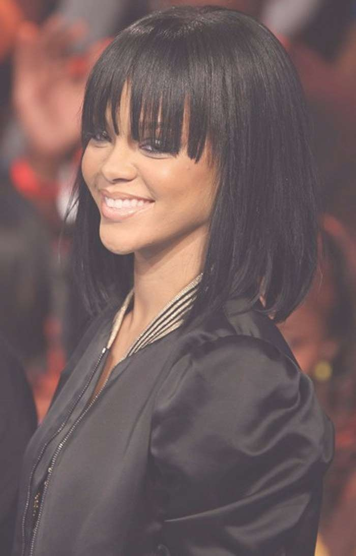 Medium Length Hairstyles With Regard To Latest Black Medium Hairstyles With Bangs And Layers (View 23 of 25)