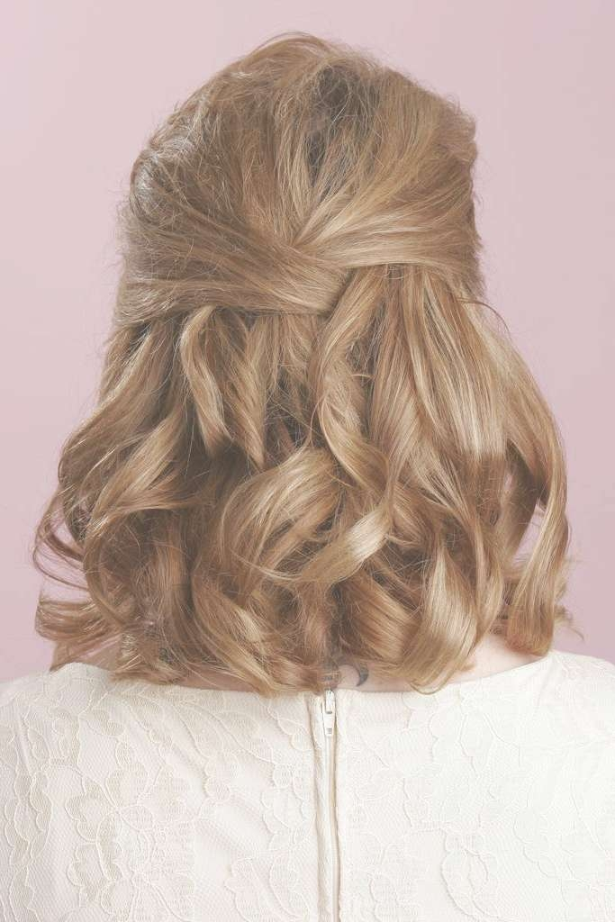 Medium Length Half Updo Hairstyles In Newest Half Short Half Medium Haircuts (View 9 of 25)