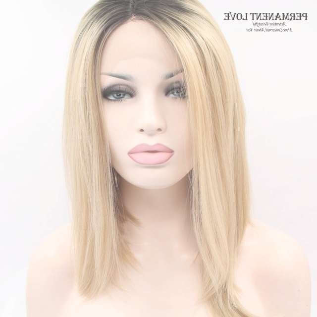 Medium Length Long Bobo Wigs For Women Syntehtic Lace Front Wigs In Newest Platinum Blonde Medium Hairstyles (View 11 of 15)