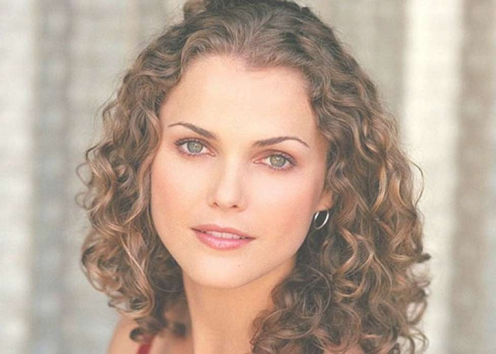 Medium Length Thick Curly Hairstyles For Older Women With Oval Inside Newest Curly Medium Hairstyles For Oval Faces (View 13 of 15)
