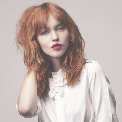 Medium Length Wavy Red Hair For 2018 Medium Hairstyles For Red Hair (View 18 of 25)