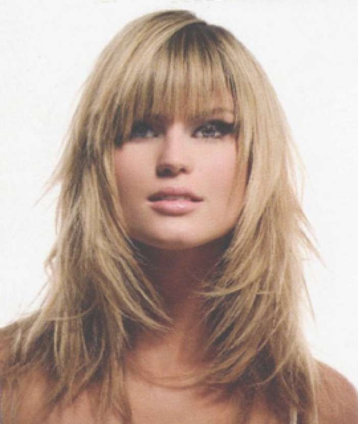 Medium Long Hair With Bangs – Hairstyle Fo? Women & Man In Most Recent Medium Haircuts With Bangs And Layers (View 23 of 25)