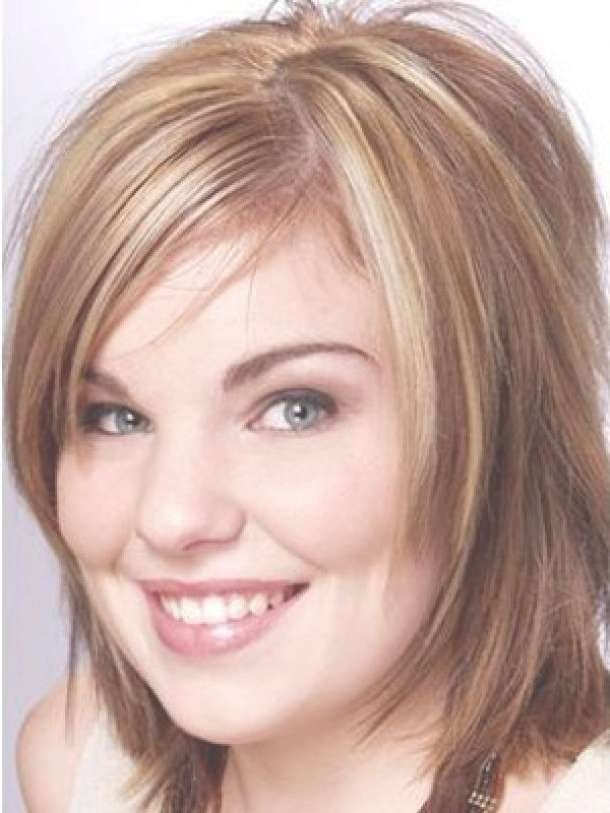 Displaying Gallery Of Medium Hairstyles For Obese Faces View 5 Of