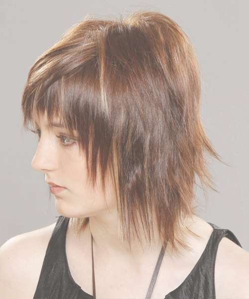 Medium Straight Alternative Hairstyle With Razor Cut Bangs With Regard To Recent Razor Medium Haircuts (View 4 of 25)