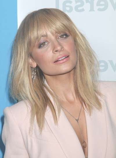 Medium, Straight Hairstyles With Bangs – Beauty Riot Intended For Current Medium Hairstyles With Straight Bangs (View 17 of 25)